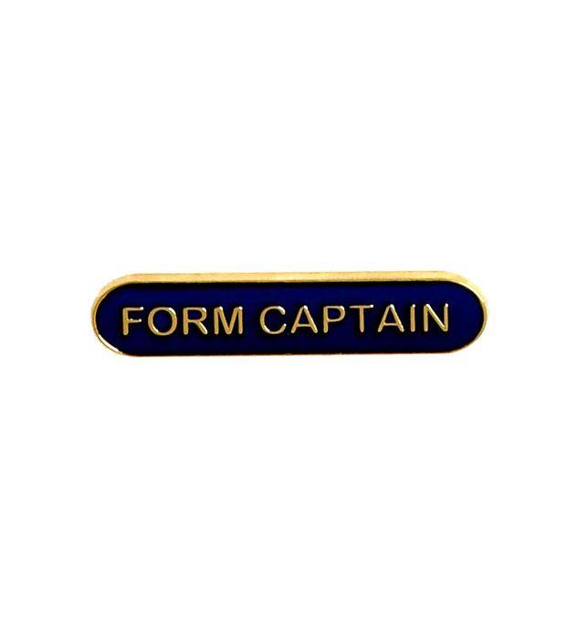 Form Captain Lapel Bar Badge Blue 40mm x 8mm