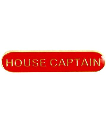 House Captain Lapel Bar Badge Red 40mm x 8mm