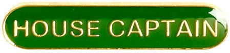 House Captain Lapel Bar Badge Green 40mm x 8mm