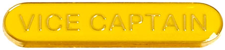 Vice Captain Lapel Bar Badge Yellow 40mm x 8mm