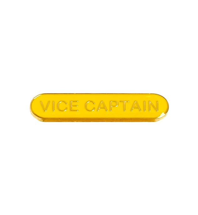 Vice Captain Lapel Bar Badge Yellow 40mm x 8mm