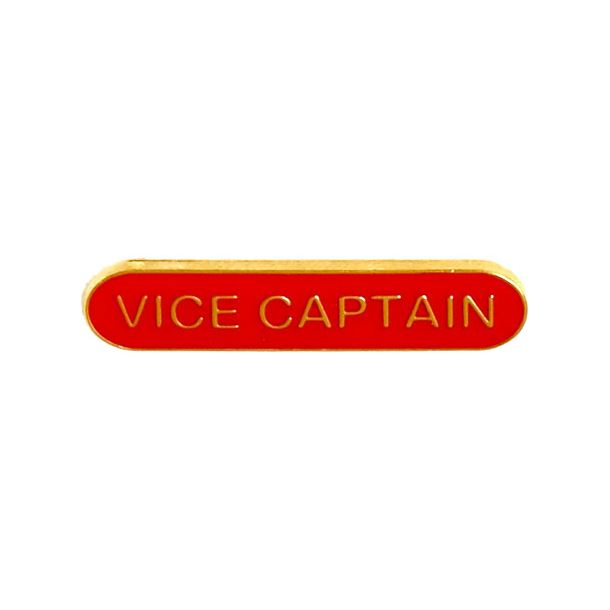 Vice Captain Lapel Bar Badge Red 40mm x 8mm