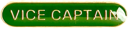 Vice Captain Lapel Bar Badge Green 40mm x 8mm