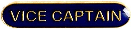 Vice Captain Lapel Bar Badge Blue 40mm x 8mm