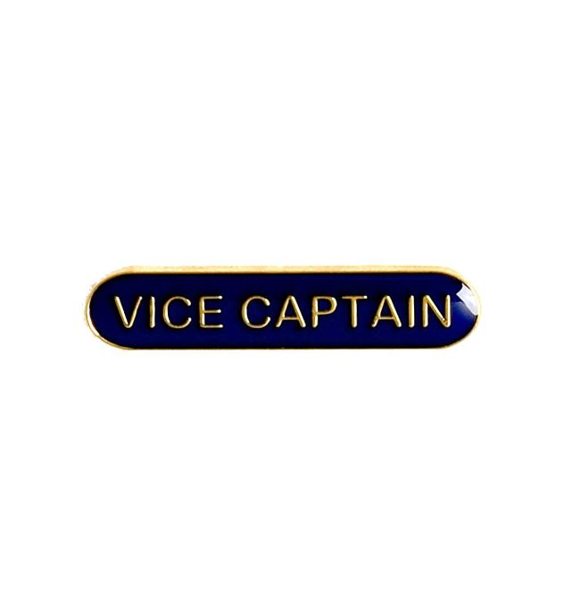 Vice Captain Lapel Bar Badge Blue 40mm x 8mm