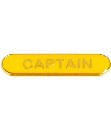 Captain Lapel Bar Badge Yellow 40mm x 8mm