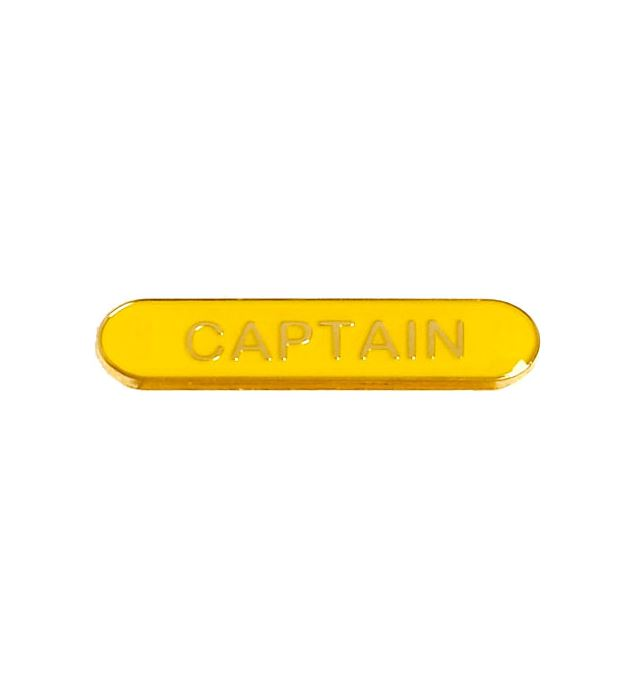 Captain Lapel Bar Badge Yellow 40mm x 8mm