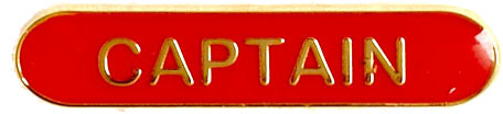 Captain Lapel Bar Badge Red 40mm x 8mm