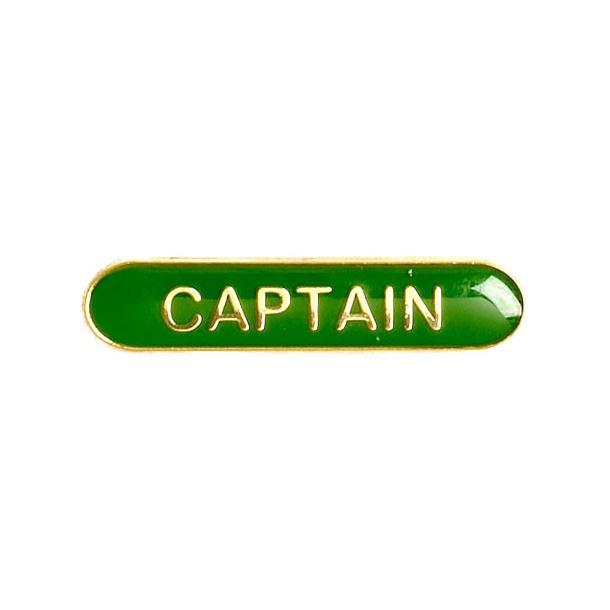 Captain Lapel Bar Badge Green 40mm x 8mm