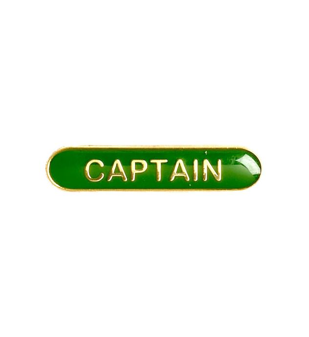 Captain Lapel Bar Badge Green 40mm x 8mm