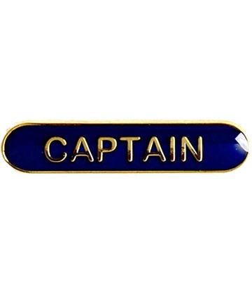 Captain Lapel Bar Badge Blue 40mm x 8mm