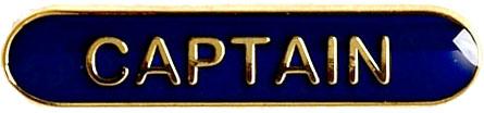 Captain Lapel Bar Badge Blue 40mm x 8mm