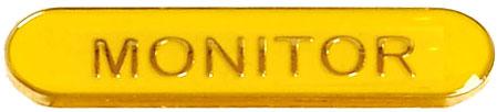 Monitor Lapel Bar Badge Yellow 40mm x 8mm
