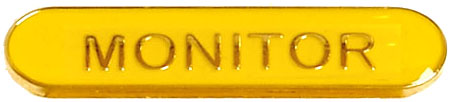 Monitor Lapel Bar Badge Yellow 40mm x 8mm