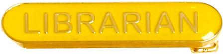 Librarian Lapel Bar Badge Yellow 40mm x 8mm
