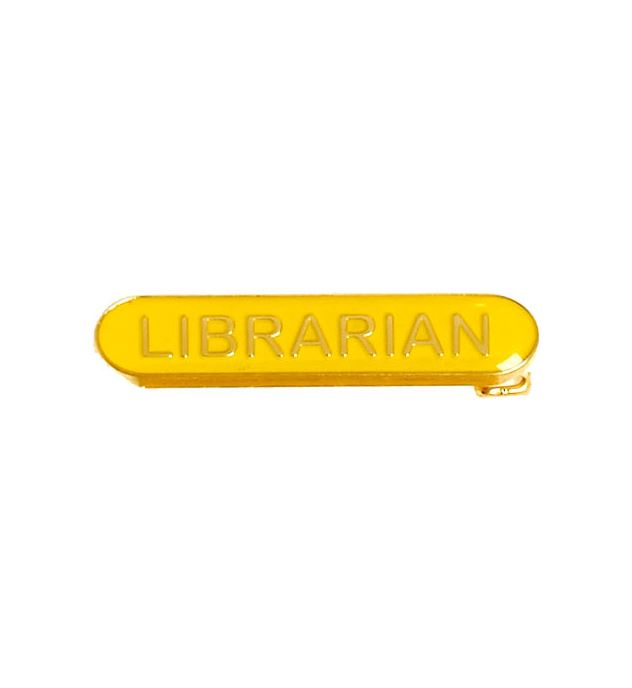 Librarian Lapel Bar Badge Yellow 40mm x 8mm