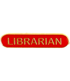 Librarian Lapel Bar Badge Red 40mm x 8mm