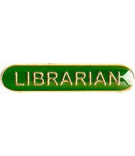 Librarian Lapel Bar Badge Green 40mm x 8mm