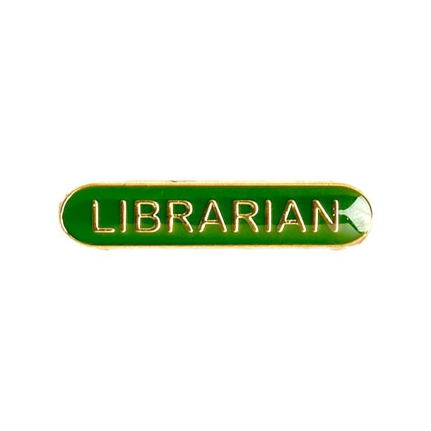 Librarian Lapel Bar Badge Green 40mm x 8mm