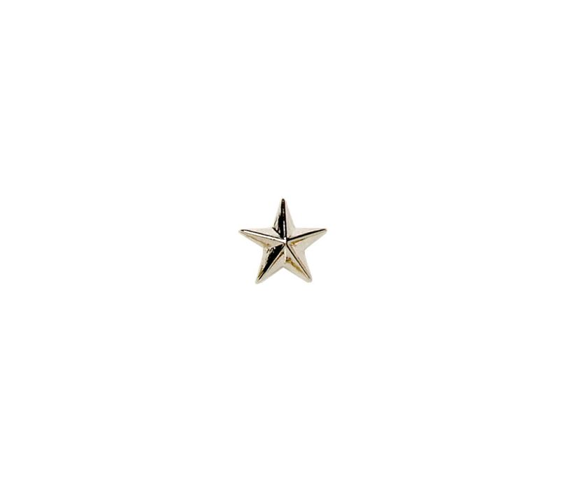 Silver Star Lapel Badge 8mm