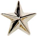 Silver Star Lapel Badge 12mm