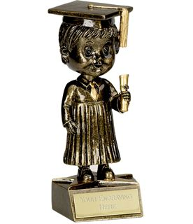 "Bobblehead Male Graduation Trophy 15cm (6"")"