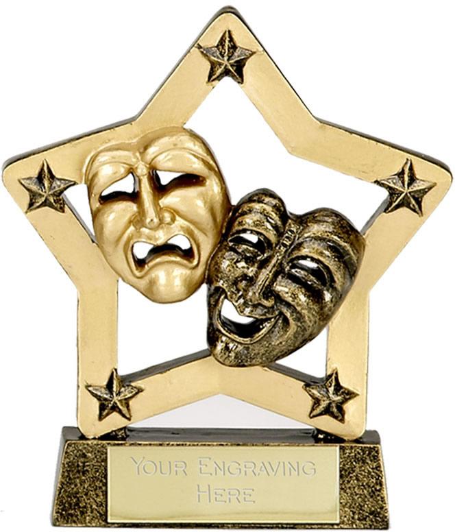 "Economy Stars Drama Award Antique Gold 12.5cm (5"")"