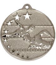 """Silver Swimming Medal with Stars 52mm (2"""")"""