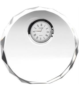 """Round Glass Clock with Patterned Edge 11cm (4.25"""")"""