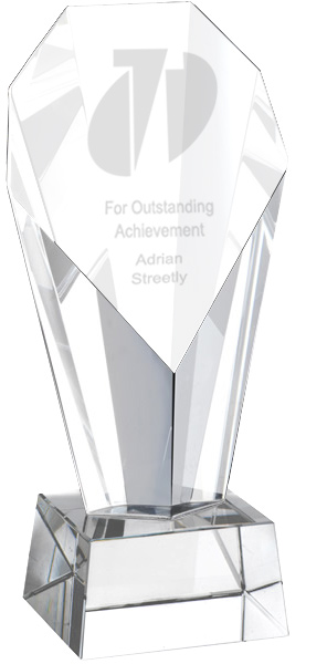 "Towering Obelisk Glass Award 23.5cm (9.25"")"