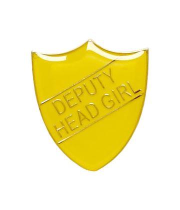 Deputy Head Girl Shield Badge Yellow 22mm x 25mm