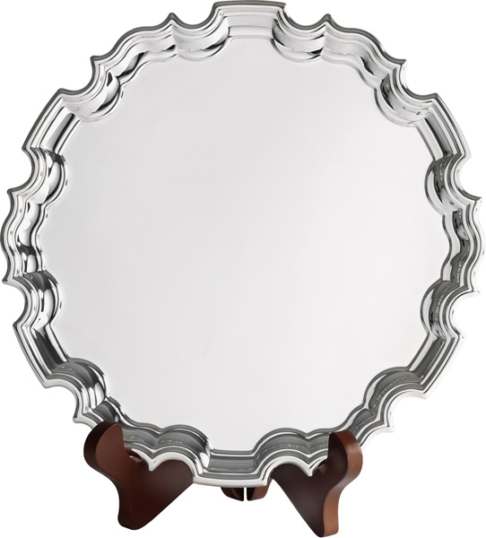 "Chippendale Silver Plated Salver 20.5cm (8"")"