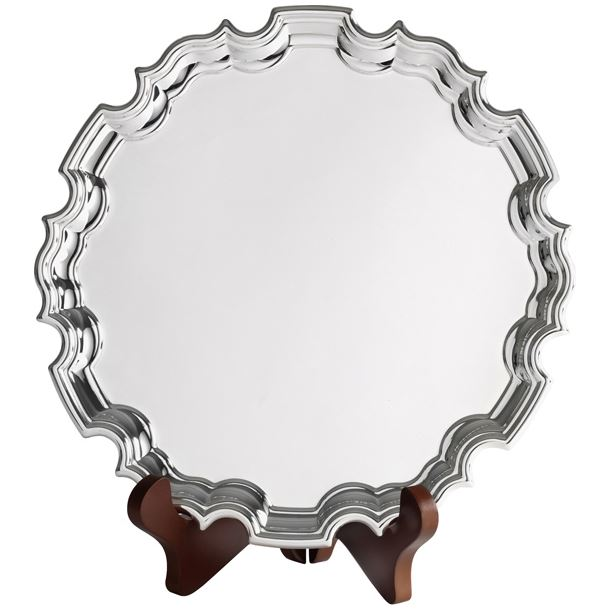"Chippendale Silver Plated Salver 25.5cm (10"")"