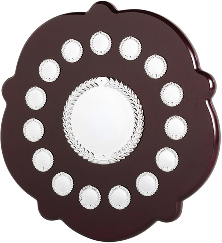 "English Rose Laurel Wreath Presentation Shield 35.5cm (14"")"