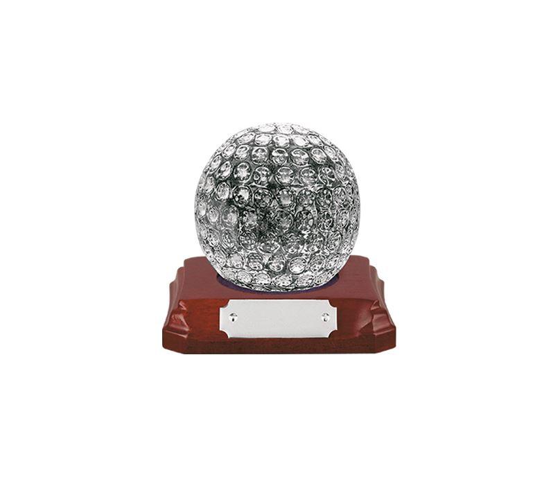 """Heavyweight Glass Golf Ball Award 10cm (4"""")"""