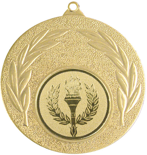 """Gold Leaf Victory Medal 50mm (2"""")"""