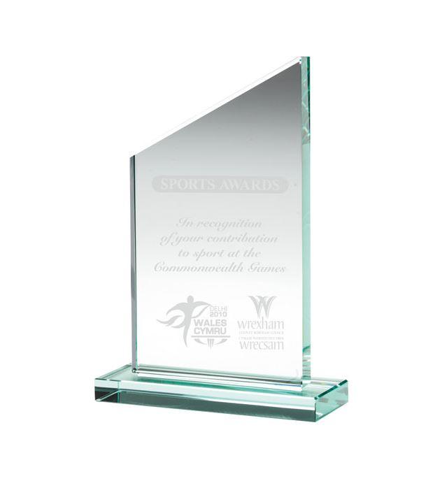 """Jade Glass Plaque 21.5cm (8.5"""")"""