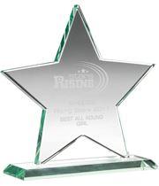 "Jade Glass Star Award 13.5cm (5.25"")"