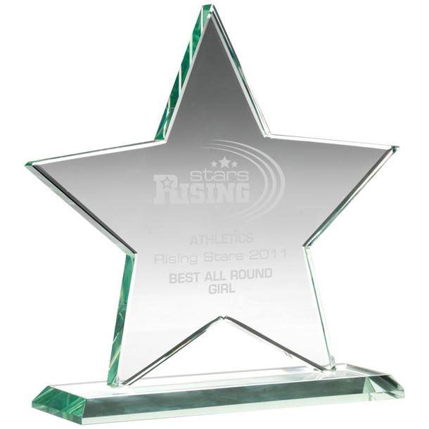 "Jade Glass Star Award 17cm (6.75"")"