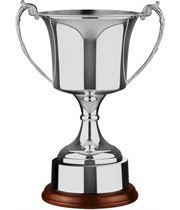 """Nickel Plated Cup with Integral Plinth band 35.5cm (14"""")"""