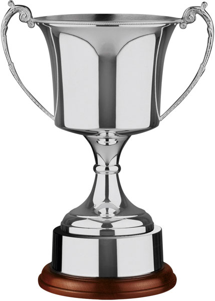 """Nickel Plated Cup with Integral Plinth band 28.5cm (11.25"""")"""