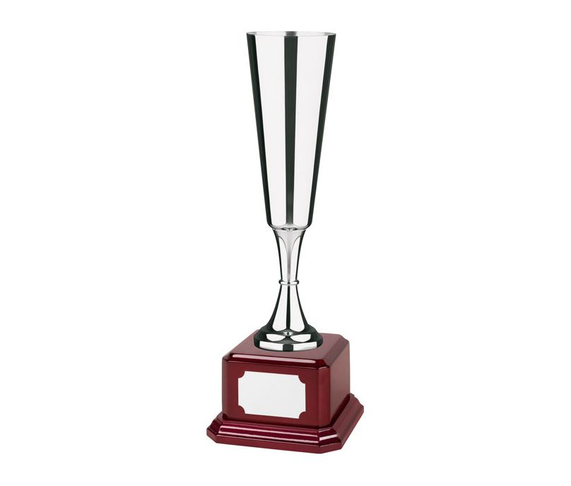 "Silver Plated Cup on Piano Rosewood Base 37cm (14.5"")"