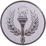 Silver Laurel Wreath Centre Disc