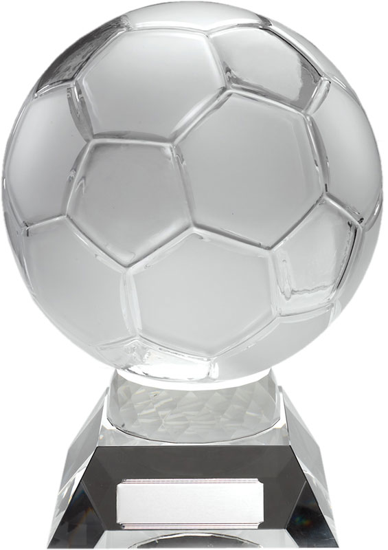 """Large Glass Football Trophy 26.5cm (10.25"""")"""