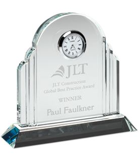 "Glass Arched Clock Award 13.5cm (5.25"")"