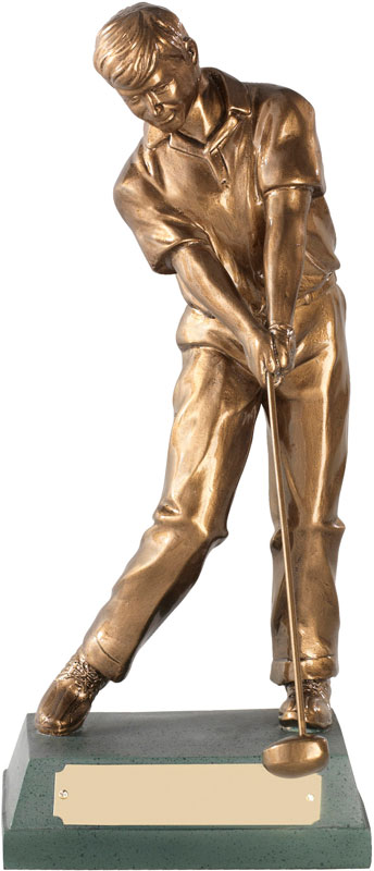 "Through Swing' Resin Golf Figure 15cm (6"")"