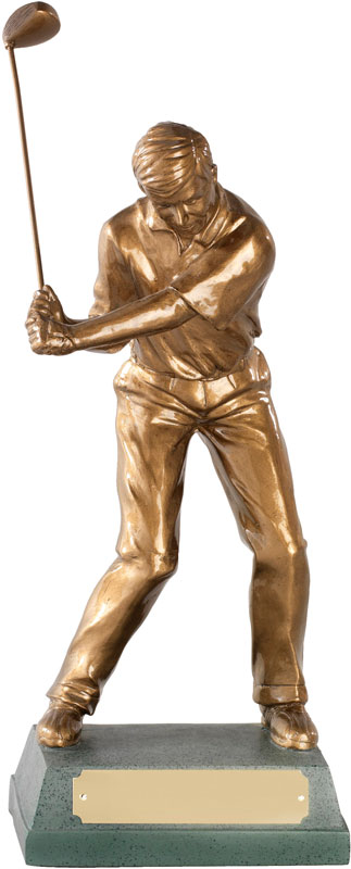 "The Mid Swing' Resin Golf Figure 25.5cm (10"")"