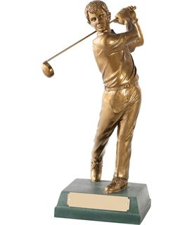 "Completed Swing' Resin Golf Figure 15cm (6"")"