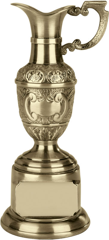 "Resin St Anne's Claret Award in Antique Gold Finish 11.5cm (4.5"")"