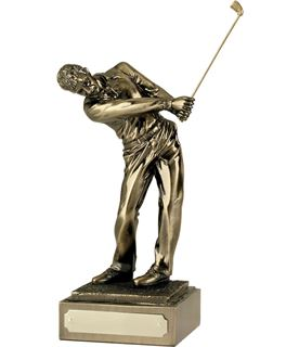 "Resin 'Follow Through' Golf Figure 25.5cm (10"")"